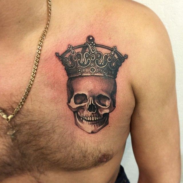тату фото черепа в короне лучшее тридевять земель