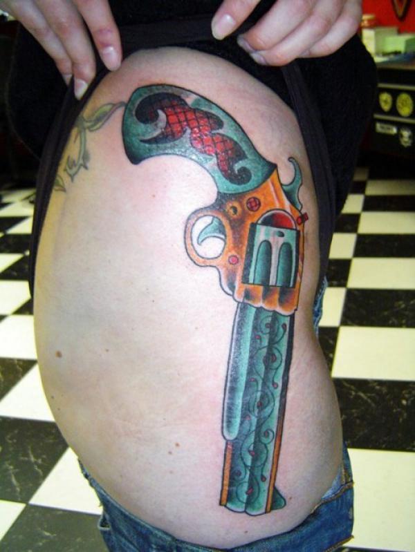gun pelvic tattoo - HD960×1280